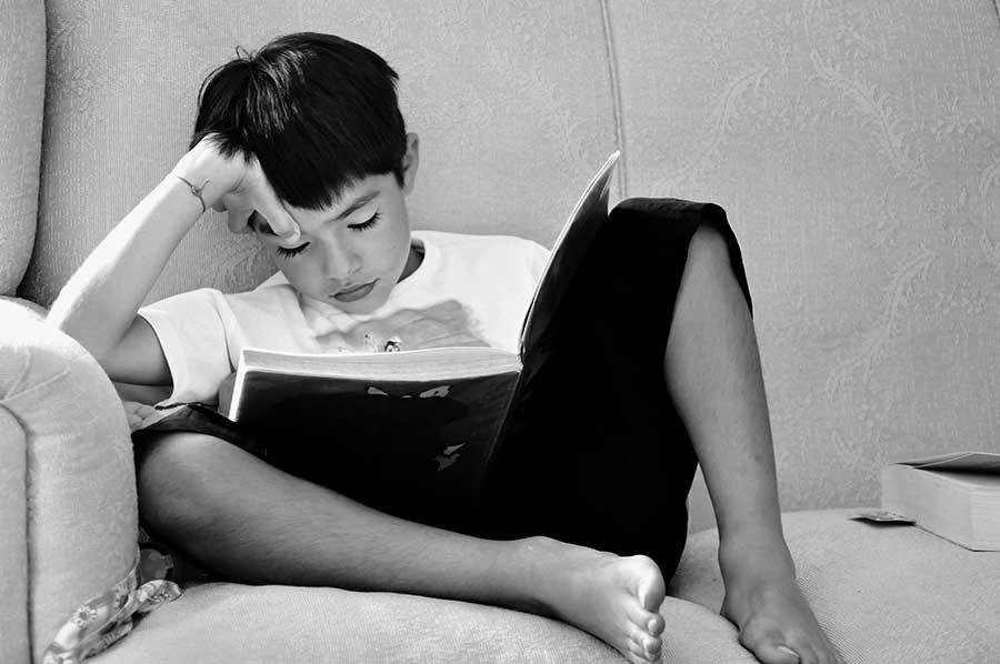 boy reading dyslexia